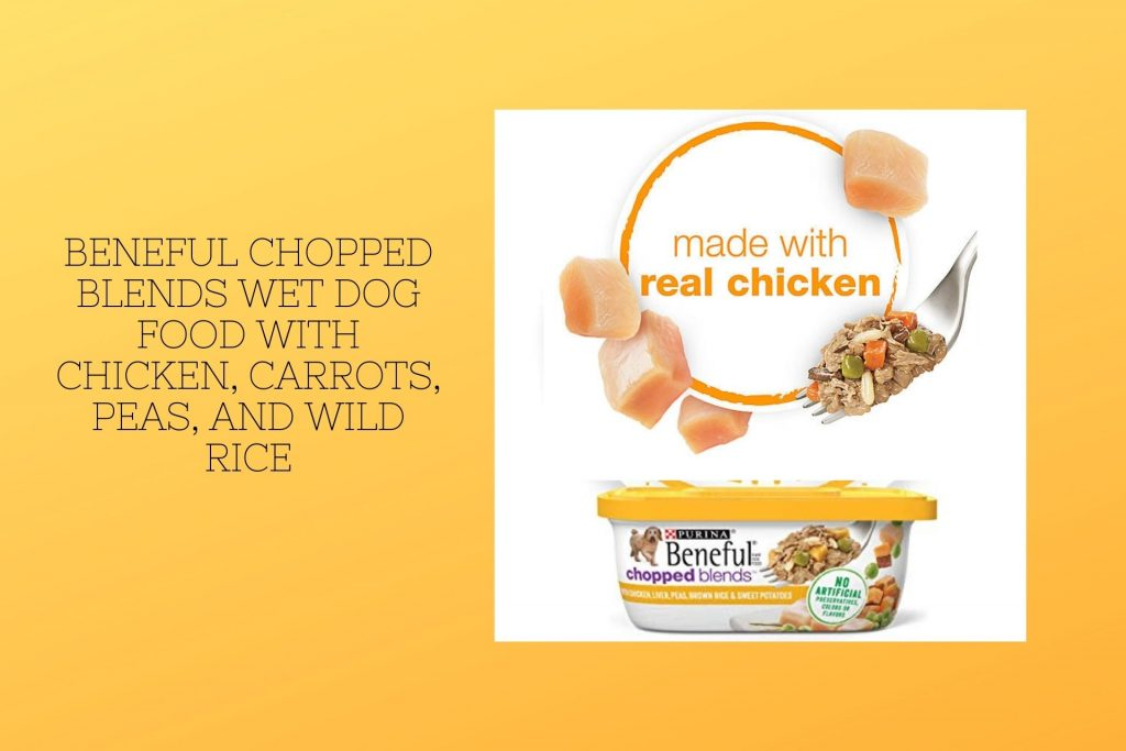 Beneful Chopped Blends Wet Dog Food with Chicken Carrots Peas and Wild Rice