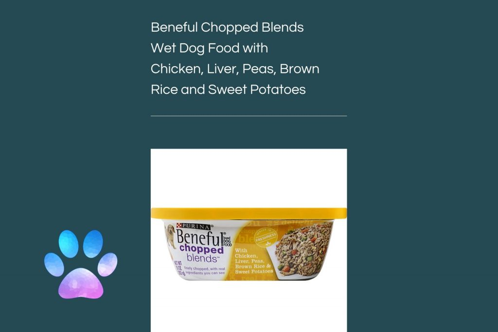 Beneful Chopped Blends Wet Dog Food with Chicken Liver Peas Brown Rice and Sweet Potatoes