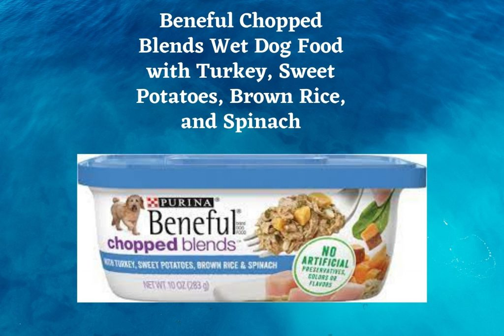 Beneful Chopped Blends Wet Dog Food with Turkey Sweet Potatoes Brown Rice and Spinach